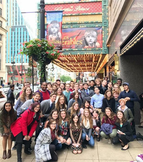 BHS Drama Students visit Chicago for Les Miserables play