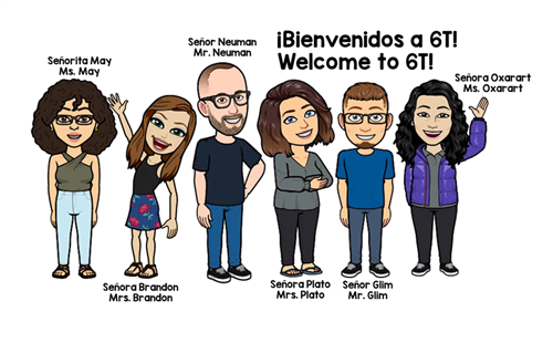 Welcome from 6T Teachers