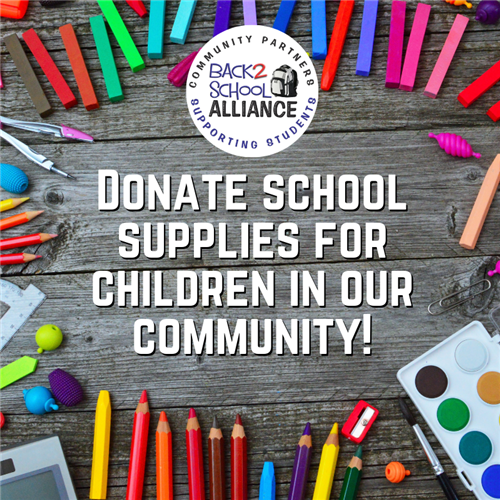 Donate School Supplies for Children in our community!